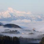 Maria Saal Dom Landschaft Kärnten Karawanken Nebel